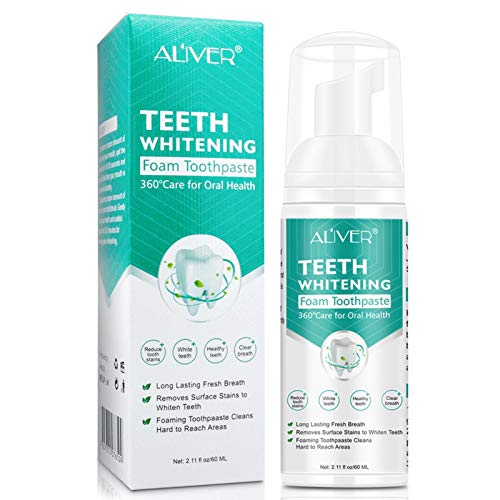 equival 60ML Zahnweiß Zahnpasta Dauerhafte Tiefenreinigung Zahnpasta Keine Empfindlichkeit Whitening Toothpaste Zum Schutz Ihres Zahnfleisches Und Ihrer Zähne Mit Einem Frischeren Atem