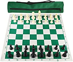 Andux Roll-up Chess Board with 32 Chess Pieces and Chess Board Bag XQTZ-01 (42x42cm)