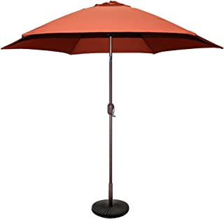 TropiShade 9 ft Bronze Aluminum Patio Umbrella with Rust Polyester Cover (Base not included)