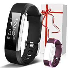 Heart Rate & Sleep Monitor: Lintelek fitness tracker monitors your heart rate all day. It tracks your sleep (awake sleep, deep sleep, awake time)at night. All-day Activity Tracker: The fitness tracker can track your daily steps, calorie consumed, wor...