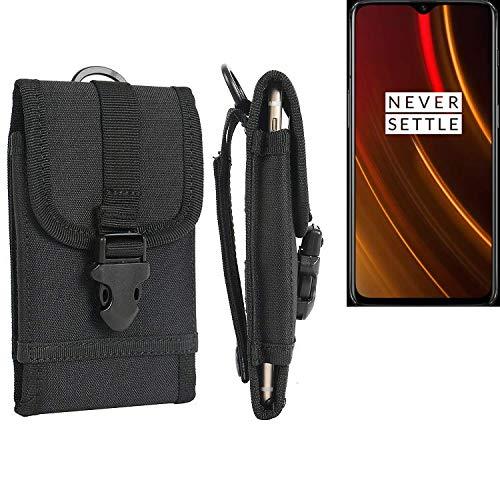 K-S-Trade® Handyhülle Für OnePlus 6T McLaren Edition Gürteltasche Handytasche Gürtel Tasche Schutzhülle Robuste Handy Schutz Hülle Tasche Outdoor Schwarz