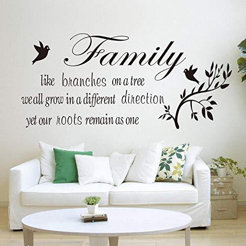 Muurstickers familie als tak spreekwoorden tak vogel 57X42Cm poster slaapkamer decoratie muursticker