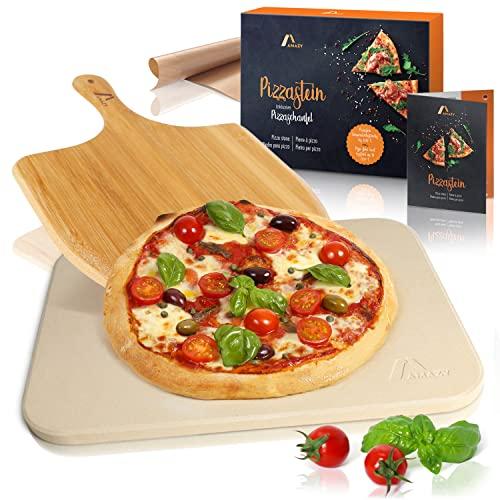 Amazy Pizzastein inkl. Bambus Bild