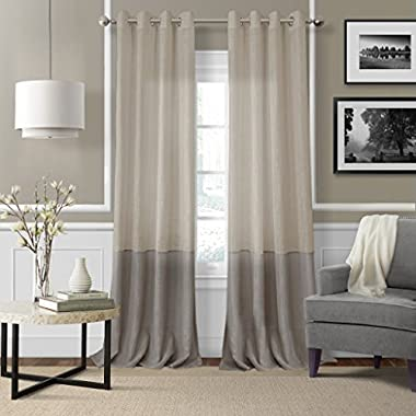 Elrene Home Fashions Melody Sheer Window Panel 52-Inch by 84-Inch, Linen
