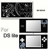 Pokemon Sun Moon Solgaleo Lunala Black Edition Skin Sticker Cover for DS Lite