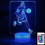 HYODREAM Kobe Bryant Night Light Basketball Gift Side Table Lamp LED Decor Light for Adult or Kids as Birthday Gift or Holidays Present