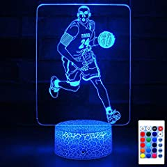 【Creative Visual Effect】 The night lights are used laser technology to carve exquisite 3D patterns on acrylic plate. The pattern is based on KOBE photo. We make this Lamp in order to remember our Basketball idol Kobe. It must impress your kids and gu...