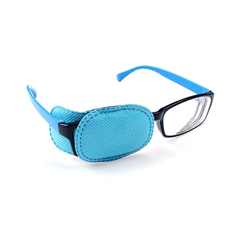 Ewinever(R) 6PCS Amblyopia Eye Patch For Glasses,Treat Lazy Eye and Strabismus for kids,No irritation to children's skin! (Blue)