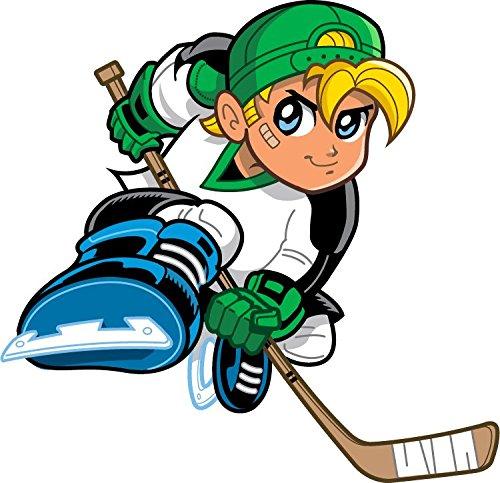 Ice Hockey Player Boy Cartoon NHL Hochwertigen Auto-Autoaufkleber 12 x 10 cm