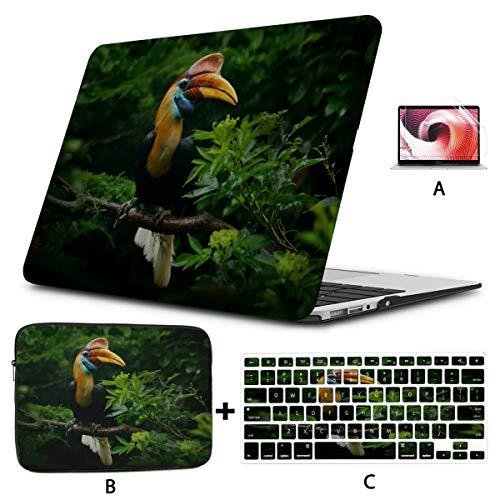 Macbook Case 12 Inch Close-up Portrait Of A Hornbill Bird Mac Air Case Hard Shell Mac Air 11'/13' Pro 13'/15'/16' With Notebook Sleeve Bag For Macbook 2008-2020 Version