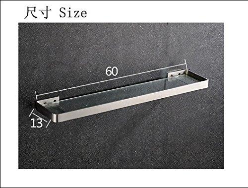 XBR plateau de verre en acier inoxydable, acier inoxydable plateau de verre, verre, solide tréfilage toilettes,60x13cm