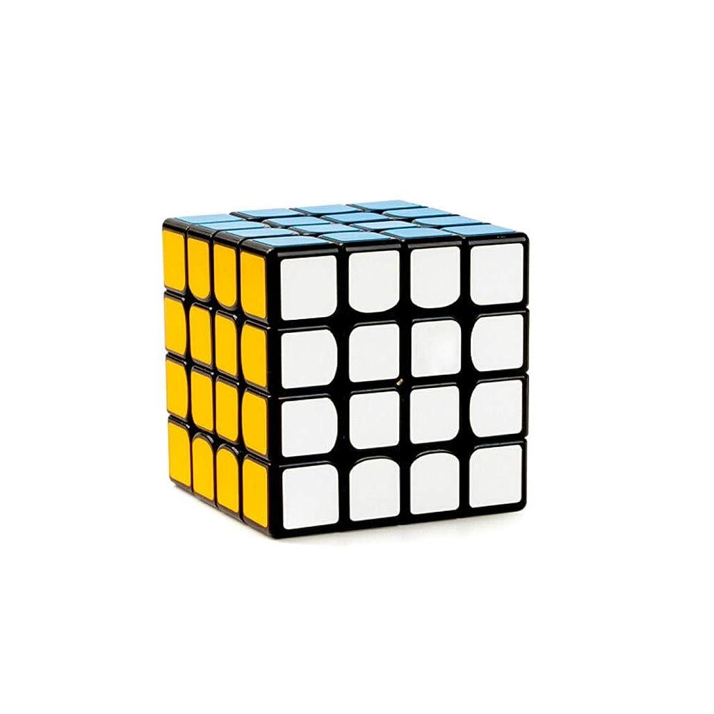 砂吸い込む貨物Jinfengtongxun ルービックキューブ、ルービックキューブの黒半光沢ステッカー版、スムーズで快適な、安全で環境にやさしいデザインスタイルを使用したもの(3/4次) 丈夫 (Edition : Fourth order)