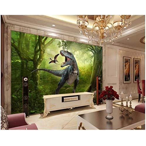Fotobehang Fotobehang Huis Bos Dinosaurussen Jungle Kinderkamer Achtergrond Gedecoreerd met 3D Behang Papel de Parede Papel Mural Wallpaper
