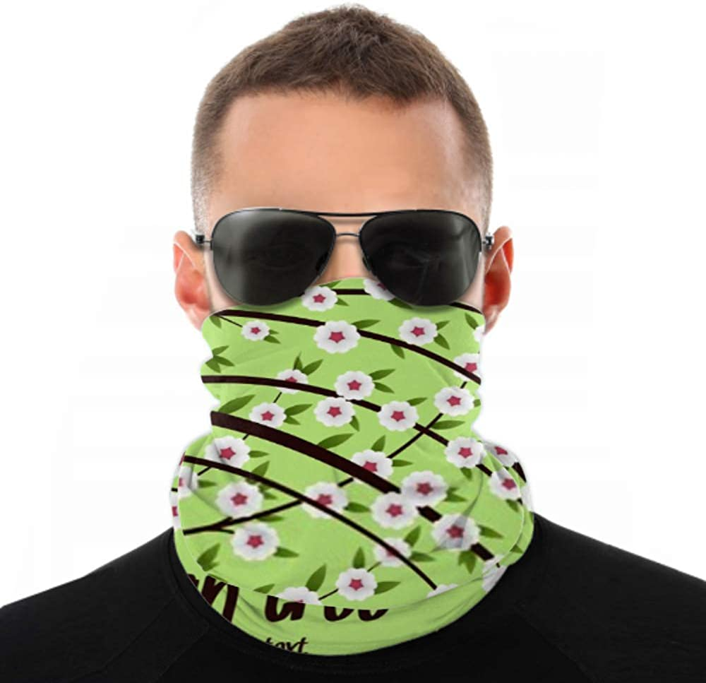 Headbands For Men Women Neck Gaiter, Face Mask, Headband, Scarf Asian Tree Space Text Vector Illustration Turban Multi Scarf Double Sided Print Yoga Headband For Sport Outdoor