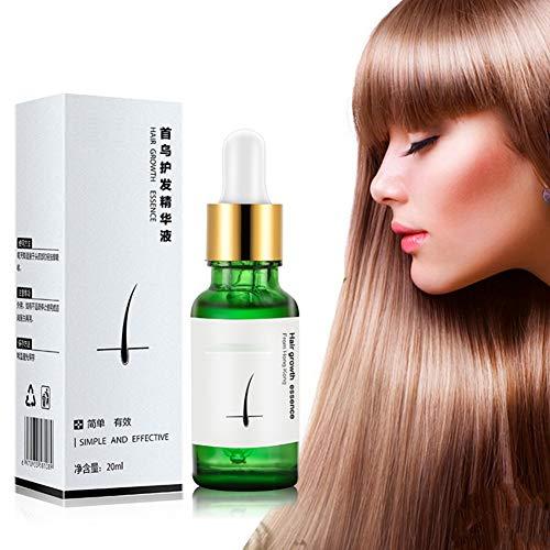 20ml Huile Essentielle Croissance des Cheveux, Essence Sérum Essentiel Cheveux Denses Liquid Beauty Anti-Chute pour les Hommes et les Femmes