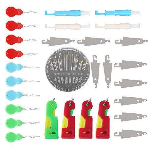 Accessori per infila ago rigido Accessori per infila anziani Set per fili per uso domestico Set per cucito Strumenti per cucire