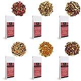 RINAMA – Lot de 6 paquets d'infusions fruitées en vrac – Sélection raffinée de plantes, 6 mélanges parfumés de 100gr – Qualité Autrichienne – Cadeau idéal pour les amateurs de thés et tisanes