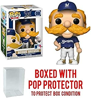POP! Sports MLB Mascots Milwaukee Brewers, Bernie The Brewer #8 Action Figure (Bundled with Pop Box Protector to Protect Display Box)