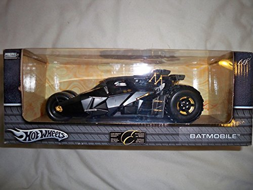 Hot Wheels Batman Comienza el batmóvil Diecast Model Car 1/18 Negro