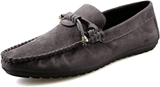 Drive Loafer For Men Boat Moccasins Slip On Style Suede Leather Tassels Metaldecor Low Top Breathability casual shoes (Color : Wine, Size : 40 EU)
