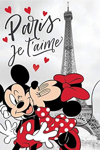 Minnie Mickey en París Manta Polar, Fleecé Manta para Arrullarse Manta 100 X 150CM