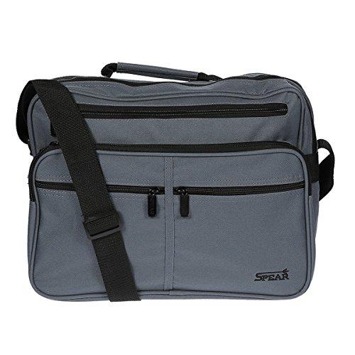 PITstore Herrentasche 949 Umhängetasche Allzwecktasche, Handyfach, extra RV-Rückfach grau ca.37,0 x 28,0 x20,0 cm