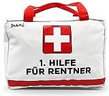 Dakita 1. Bolsa de ayuda para jubilación – 28 x 18 x 8 cm grande | divertido regalo para jubilación para despedida de compañeros | Regalo ideal de despedida para jubilados (blanco, sin contenido)