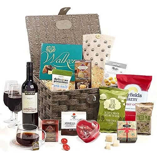 Hay Hampers' Celebration Food & Wine Hamper Basket For Couples