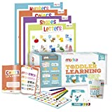 merka Toddler Learning Kit Posters Flashcards Practice Book Letters Colors Shapes Numbers