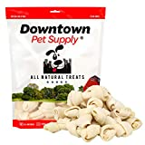 Downtown Pet Supply All Natural Bulk Rawhide Retriever Knots Chew Treats, Long Lasting, Large Thick Cut Beef Rawhide (4-5' inches, 40 Pack)