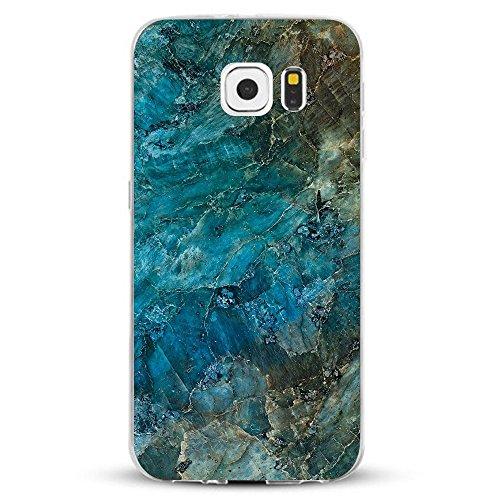 Samsung Galaxy S6 Hülle,AIsoar Samsung S6 Handyhülle [Ultra Dünn] Crystal Weiche Soft Schutzhülle Transparent stoßfest Case Slim Klar TPU Silikon Marmor serie Kratzfest Cover für Samsung S6 (Marmor 6)