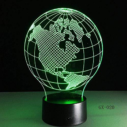 3D-Karte der nordamerikanischen Lampe führte Nachtlichter als Innendekoration,mehrere Farben,Geburtstagsdekoration,Geschenk,ferngesteuertes -Steuerfarbe