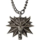 JINX The Witcher 3 Necklace with White Wolf Medallion & Chain