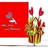 """3D Muttertagskarte""""Alles Liebe zum Muttertag"""" – tolle Geschenkidee: Grußkarte als kleines Geschenk"""