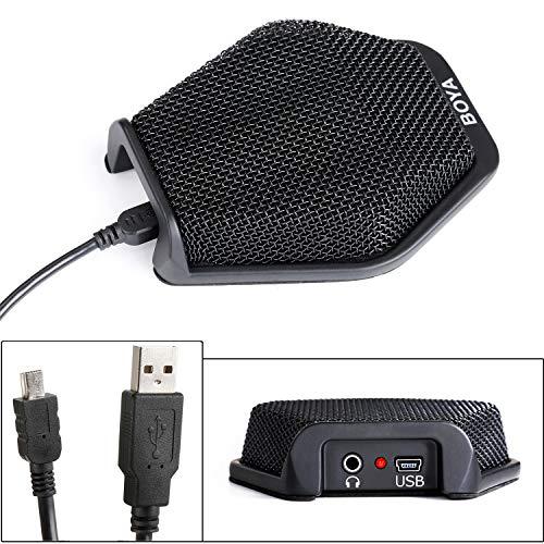 Micrófono de condensador de conferencia USB BOYA, micrófono de ordenador portátil de oficina para Windows Mac YouTube grabación de llamadas de conferencia