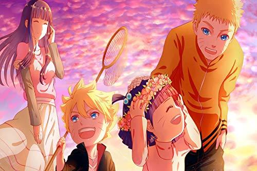 HQYMY Anime Puzzle Naruto DIY 1000 Pieza Animación Adulto Puzzles de Madera descompresión Alto Dificultad Juguetes Niños Juegos Familiares Regalos Puzzle (Style : A)