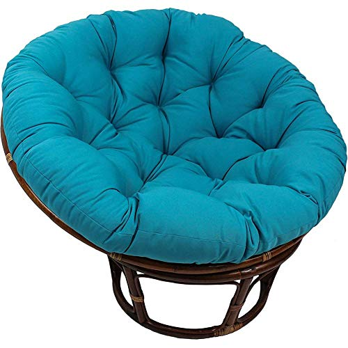LIYANJIN Round Papasan Chair Cushion,Solid Color Swing Chair Cushion,OVERSIZED Chair Pad W Removable Cover Indoor Courtyard Garden,Without Chair Navy Blue 40x40cm
