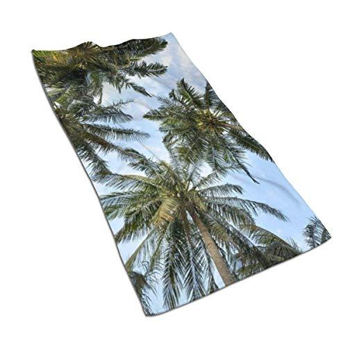 VimcustomPr Toalla de mano de coco tropical, color blanco, altamente absorbente, 40 x 70 cm, juego de toallas de algodón egipcio, juego de toallas ultra absorbentes para viajes y deportes
