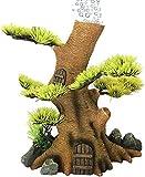 JILYEMOY - Decoración de burbujas de árbol de madera para acuario, con bomba de oxígeno, resina para acuarios, peceras, troncos de madera, con piedra de burbujas de aire