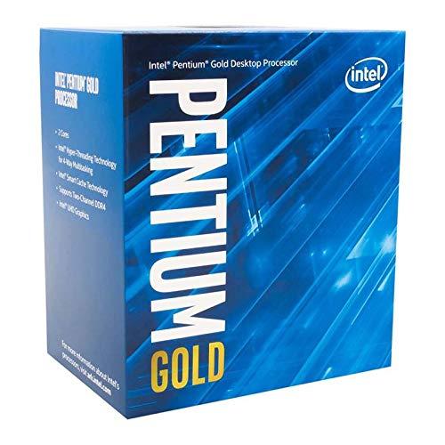 Intel Pentium Gold G-6400 Desktop Processor 2 Cores 4.0 GHz LGA1200 (Intel 400 Series chipset) 58W (BX80701G6400)