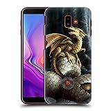 Head Case Designs Oficial Anne Stokes Tesoros De Oro Dragones Carcasa rígida Compatible con Samsung Galaxy J6 Plus (2018)