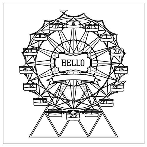Fafalloagrron Silikon-Stempel, transparent, zum Basteln, Scrapbooking, Prägen, Album, Dekoration, Basteln, Riesenrad