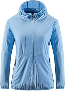 Hooded Sun Protection Tops Ice Silk UPF 50+ Women's Outdoor Performance Workout Shirt