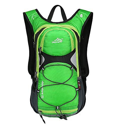 AHJSN Mochila de Senderismo Impermeable Hombres Trekking Mochilas de Viaje para Mujeres Bolsa de Deporte de Alpinismo de Escalada al Aire Libre Paquete de Caminata Altura 43 cm Ancho 25 cm Verde