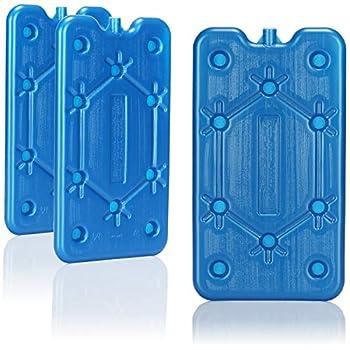 com-four® 3X Pack réfrigérant - Bloc Glace - Bloc Froid - glaçon glaciere - Cool Pack - Bloc Refrigerant - Pain de Glace (03 pièces - Moyen)