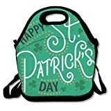 Bolsa de almuerzo con aislamiento térmico Happy St Patrick Day Bolso personal Bolsa de almuerzo Bolsa de comida de picnic al aire libre para niños, mujeres y hombres