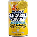 Natural Dog Odor Carpet Powder | Dry Pet Smell Eliminator | Remove Urine Smells | Plant Based and Biodegradable Room Powder | Loosens Fur and Dirt
