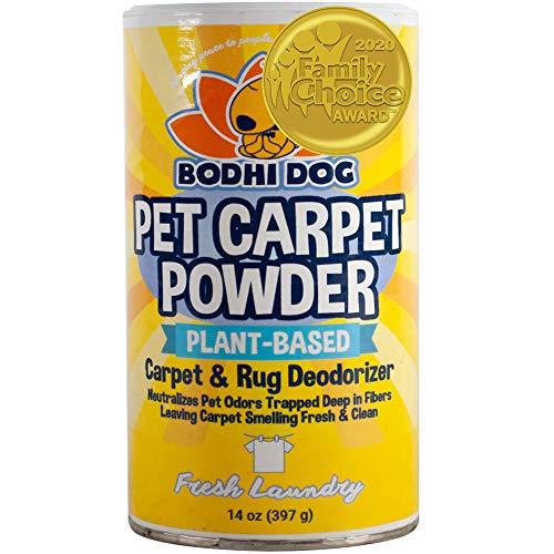 Natural Dog Odor Carpet Powder   Dry Pet Smell Eliminator   Remove Urine Smells   Plant Based and Biodegradable Room Powder   Loosens Fur and Dirt