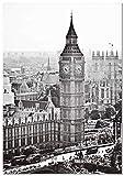 Panorama Poster Big Ben London 50x70cm - Gedruckt auf