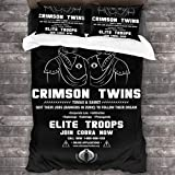 FDASLJ GI Joe Crimson Twins Join Cobra Now 3 Pieces Bedding Set Duvet Cover 86'' x70,Queen Decorative 3 Piece Bedding Set with 2 Pillow Shams